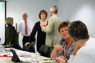 Steering group - a productive morning tea.JPG