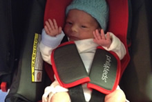 Leaving hospital in an approved baby car seat